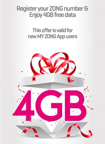 My Zong 4GB free Data