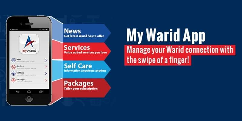 Access all your Account Details at one place with 'My Warid' App