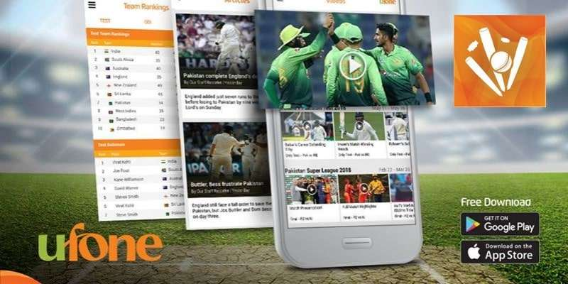 Ufone Cricket App allow users to watch Live Cricket Matches on Cell Phones