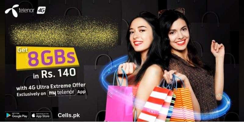 Install My Telenor App to enjoy Telenor 4G Ultra Extreme Offer 8GB Internet
