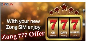 Zong 777 Offer Activation
