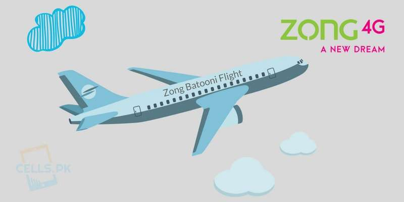 With Zong Batooni Flight Offer Now get lowest International Call rates to UK, USA & Canada