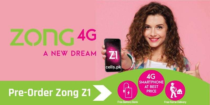 Pre-Order Zong Z1 to get FREE Power Bank, Free Bundle Rs. 4800 & Free Home Delivery
