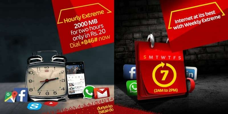 Mobilink Jazz Internet Monthly Extreme, Jazz Internet Weekly Extreme, Jazz Internet Hourly Extreme Offer