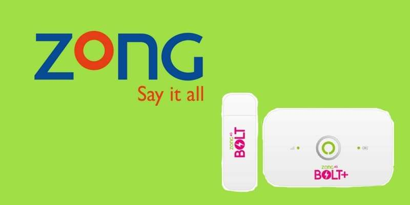 Zong MBB (Bolt / Bolt+ Devices) 6 and 12 Months Packages Offer 2019