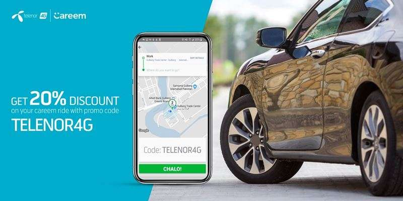 Telenor Careem Offer provides exclusive discounts to Telenor users on first 5 Careem rides