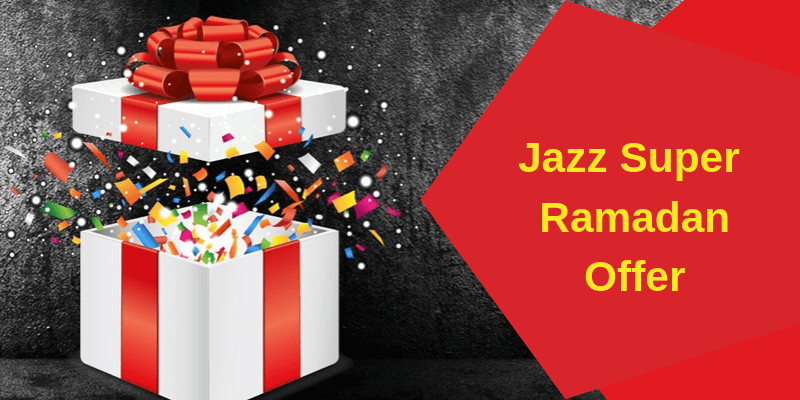 With Jazz Super Ramadan Offer Get Free Minutes, MBs and SMS in Rs 9 Only