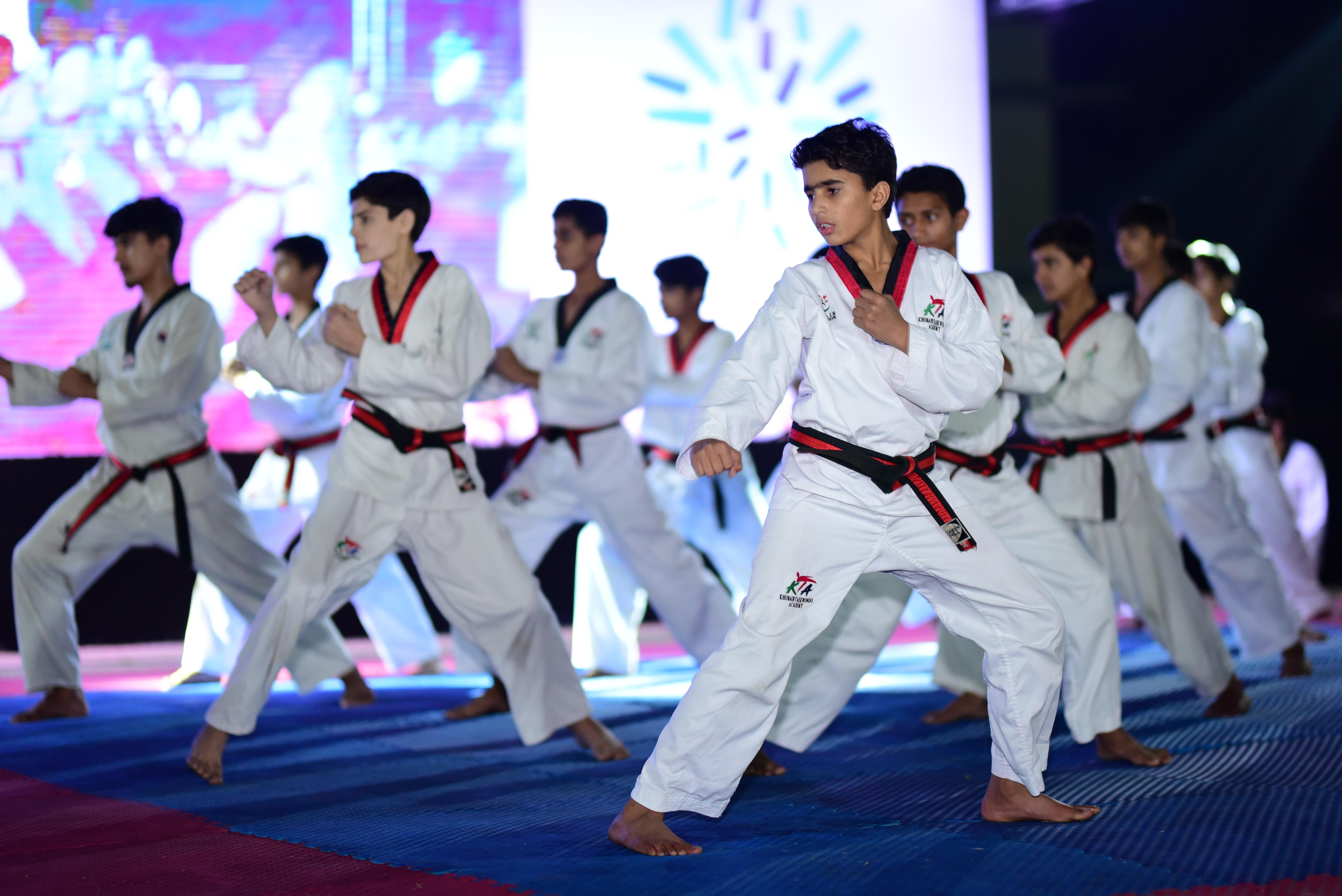 Taekwondo Performance by Khubaib Foundation Kids
