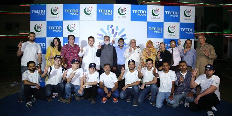 Tecno and  Khubaib Team
