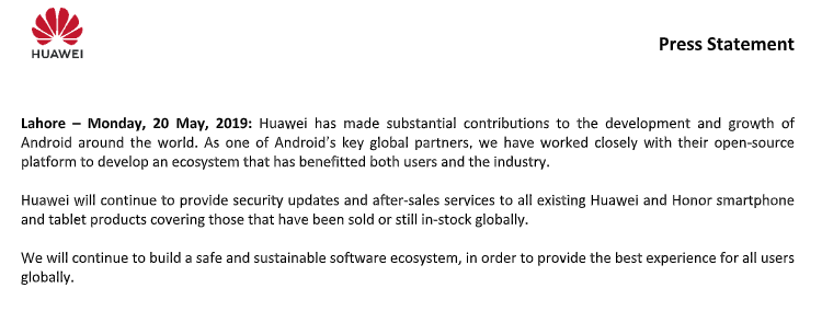 Huawei press Release