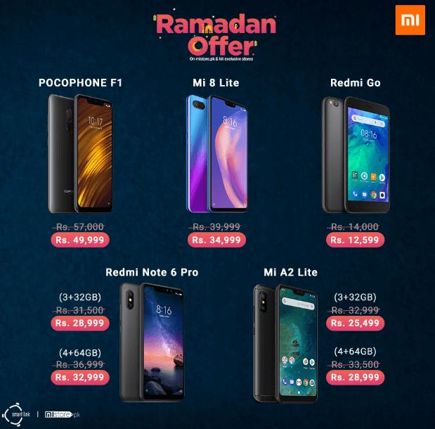 Phones with Mi Ramzan Offer