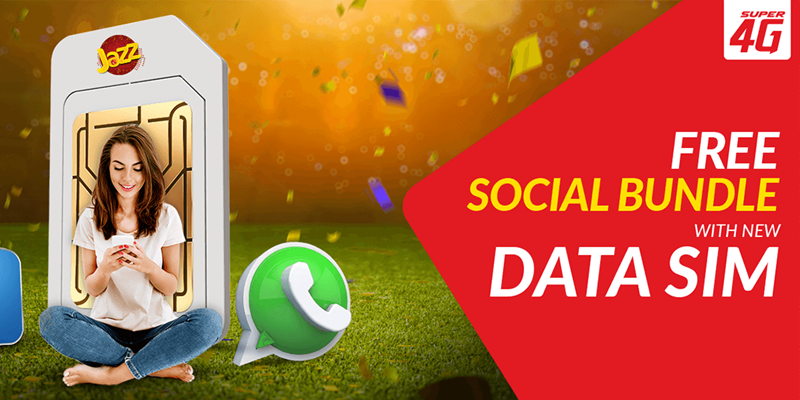 Now Enjoy Jazz FREE Social Bundle (4GB) with every New Data SIM