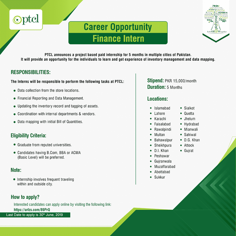 PTCL Internship Program