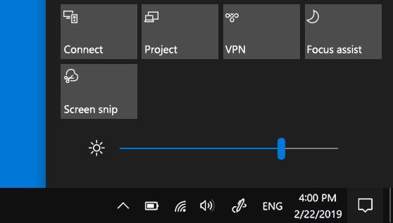Adjust Screen Light