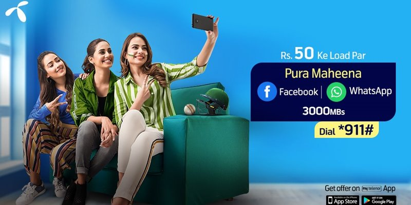 Telenor Monthly Facebook and WhatsApp Offer (Latest)