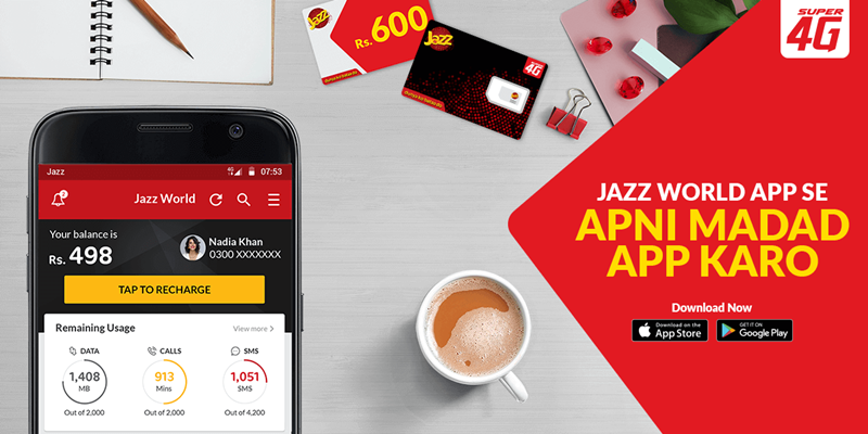 Activate your Favorite Jazz Bundles with Mobilink Jazz World App