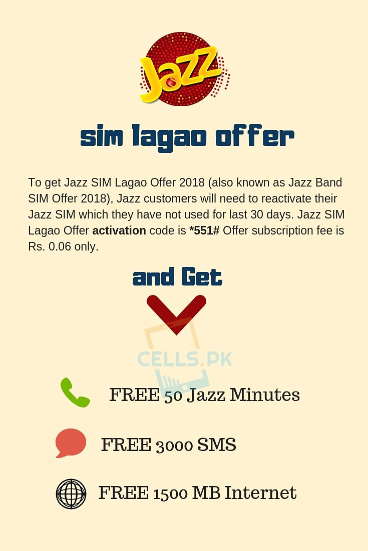 Jazz Sim Lagao Offer 2019 Code