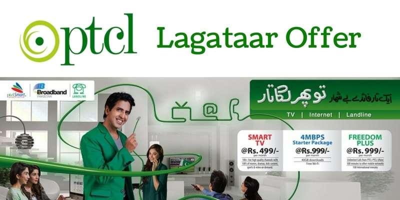 PTCL Lagataar Offer (Freedom Plus Package, Smart TV Package, DSL 4Mbps Starter Package)