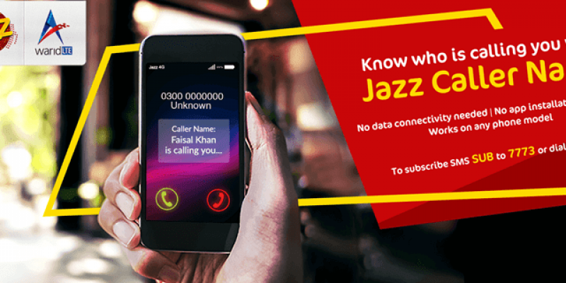Know who is calling you? Warid / Jazz launches Jazz Caller Name