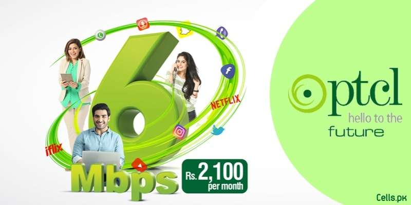 PTCL introduces 6 Mbps Package with Free iFlix, Smart TV, Free Unlimited PTCL to PTCL Calls and More