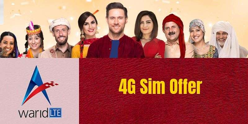 warid 4G sim offer activation code