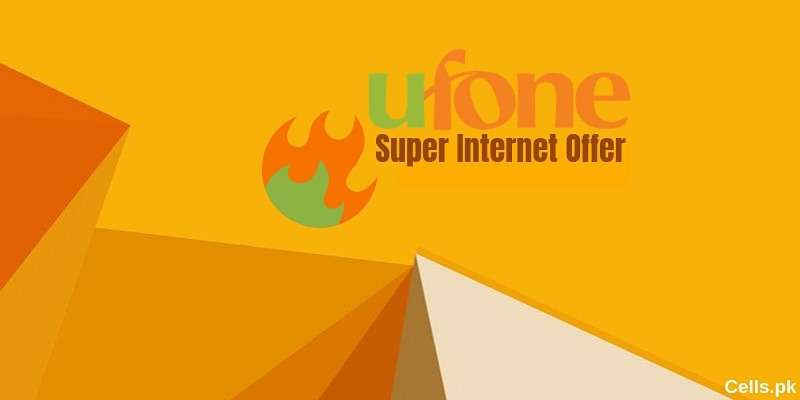 Ufone Super Internet Offer provides 1.2GB Internet Volume for 1 whole Week
