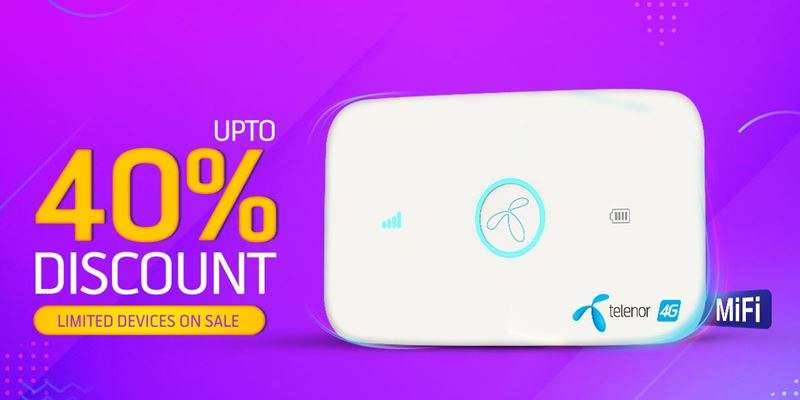 Get Upto 40% Discounts on Telenor 4G Device Packages Monthly