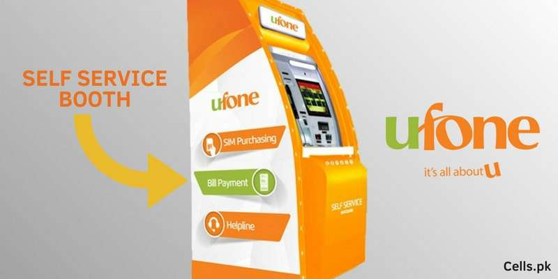 Ufone Self Service Booth allows you to perform all support-related services securely