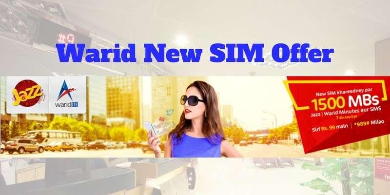 Warid New SIM Offer (2018) Complete Details