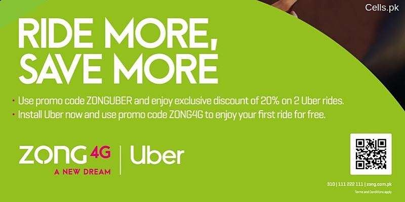 Uber offers FREE Rides & amazing Discounts to Zong Customers