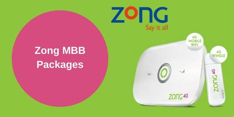 Complete Details of Zong  MBB Devices with Price, Features and available packages