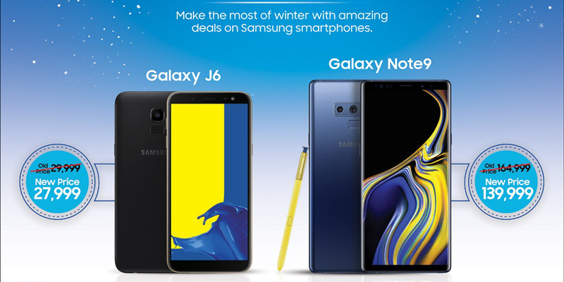 Samsung note 9 and j6 discount price