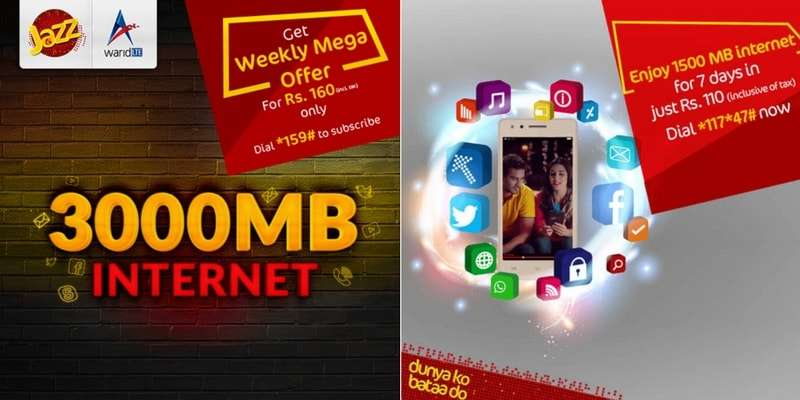 Mobilink / Jazz introduces Jazz Weekly Premium / Jazz Weekly Mega Mobile Internet Offers