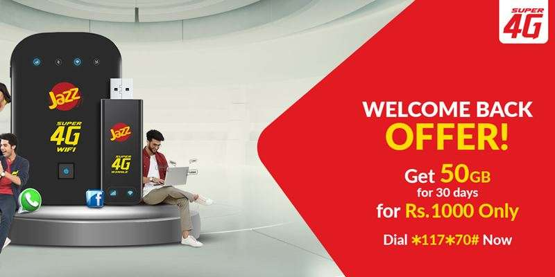 How to Avail Jazz Welcome Back Offer to Get 50GB data in Rs. 1000 Only