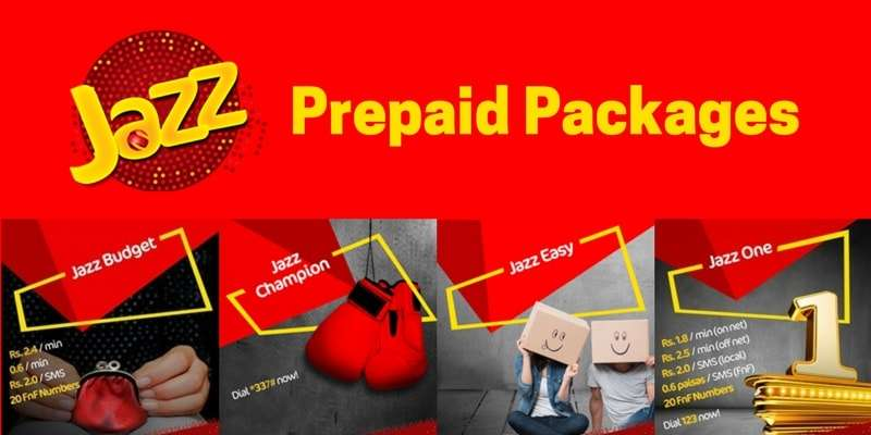 Mobilink / Jazz Prepaid Packages (Jazz Easy, Jazz Budget, Jazz One, Jazz Champion) 2018