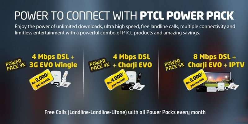 PTCL Power Pack (Power Pack 3K, Power Pack 4K, Power Pack 5K) Complete Details