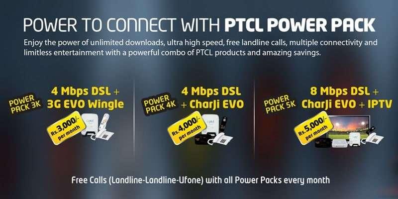 PTCL Power Pack (Power Pack 3K, Power Pack 4K, Power Pack 5K) Complete Details