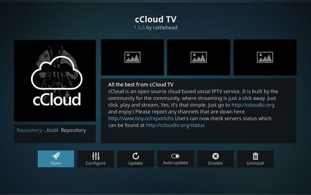 cCloud TV Kodi