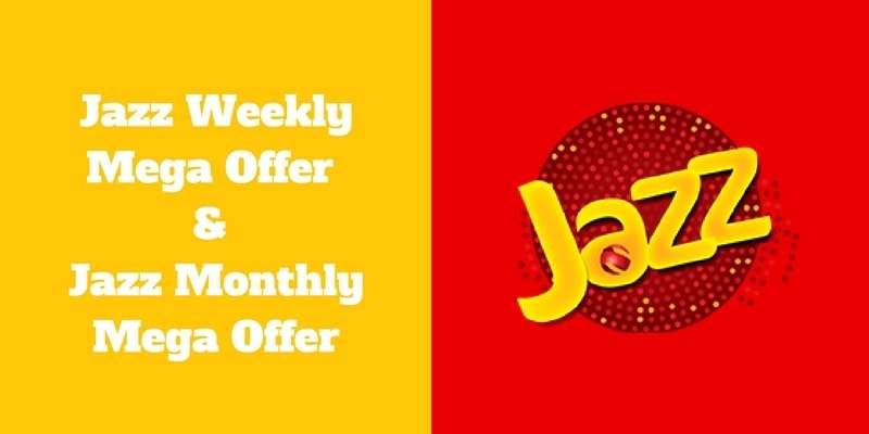Jazz Super 4G Internet Bundles, Jazz Weekly Mega Offer & Jazz Monthly Mega Offer