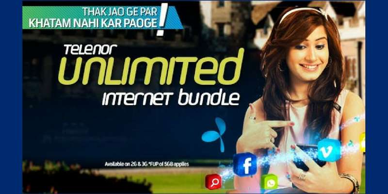 Telenor 4G Daily Unlimited Internet Bundle offers 350 MB Internet in just Rs. 16