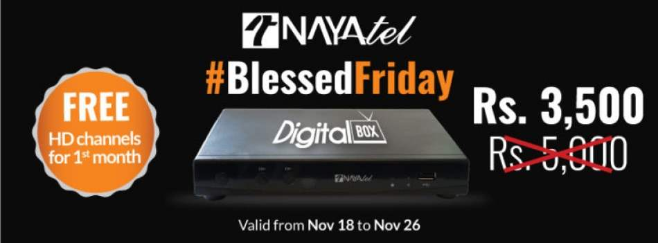 Nayatel introduces Discount Offer for Blessed Friday