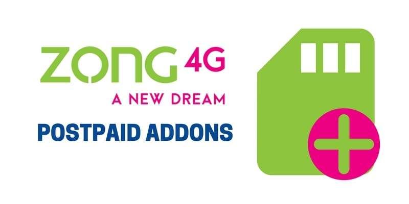 Zong Postpaid Addons / Packages - Internet Data & SMS Bundles Addons (Complete Details)
