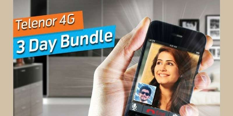 Telenor 4G 3 Day Bundle Offers 200MB Internet + 200MB FREE for Facebook in just Rs. 42