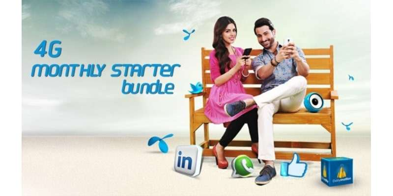 Enjoy 8GB Internet Data with Telenor 4G Monthly Starter Bundle in Rs. 250 for 1 Month