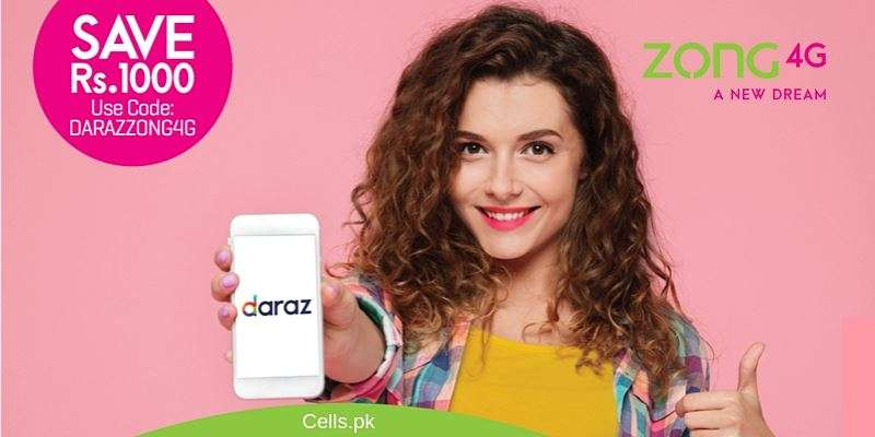 Zong Daraz Offer - Shop on Daraz with Zong without Data Charges to enjoy Rs. 1000 Discounts