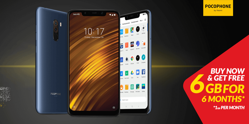Purchase Xiaomi Pocophone F1 from Jazz eShop to enjoy FREE 6GB Internet