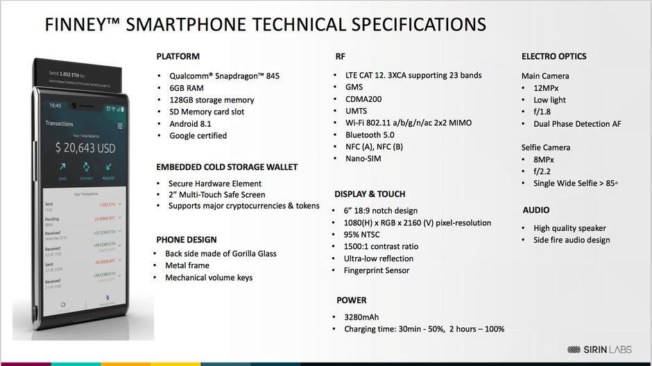 HTC Finney Blockchain Phone