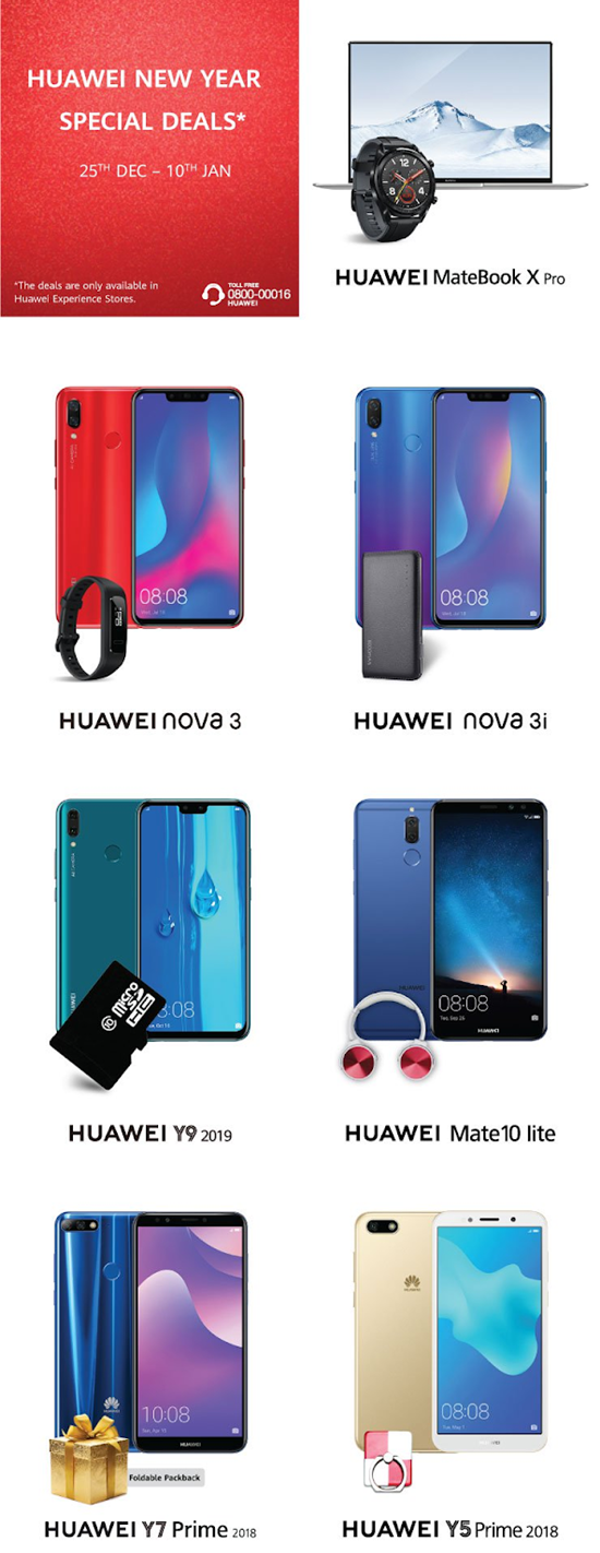 Huawei New Year 2019 Deals