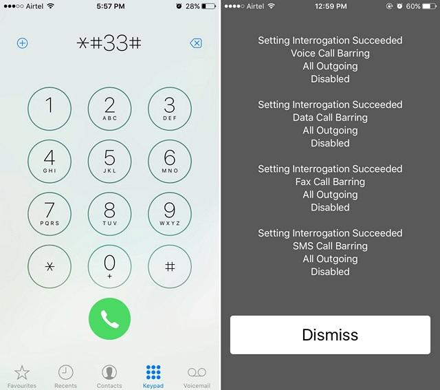 iPhone Call Barring