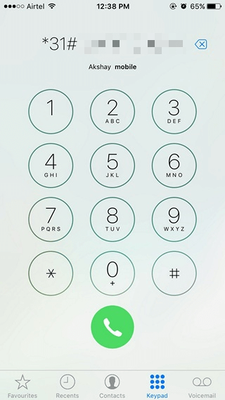 iPhone Hide Caller ID